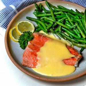 losos s holandskou omáčkou recept