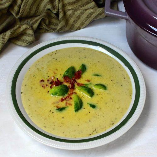 polévka z růžičkové kapustičky low carb recept
