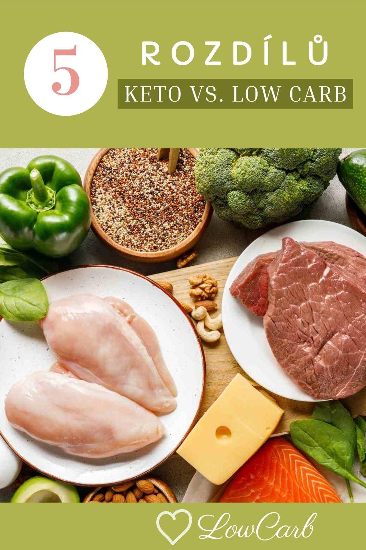 low carb vs. keto dieta rozdíly